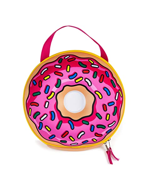 687f7efd40b3 BigMouth Inc Frosted Donut Lunch Tote, Insulated, Keeps Lunches Cool, Easy  to Carry, Fun Kids Lunch Box or Adult Lunch Bag