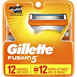 Gillette Fusion5 Men's Razor Blade Refills, 12 Count, Mens Razors/Blades