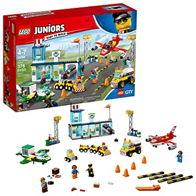 LEGO Juniors City Central Airport 10764 Building Kit (376 Pieces): Toys & Games