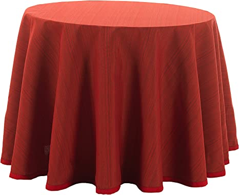 Martina Home Ribero - Falda para mesa camilla , Rojo, Redonda de 90: Amazon.es: Hogar