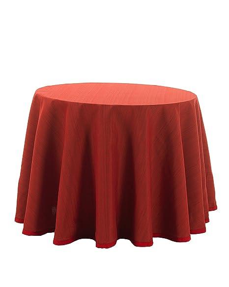 Martina Home Ribero - Falda para mesa camilla , Rojo, Redonda de ...