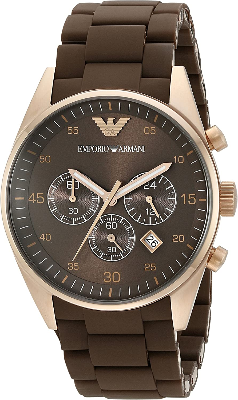 Emporio Armani Men's AR5890 Sport Brown Silicone Watch