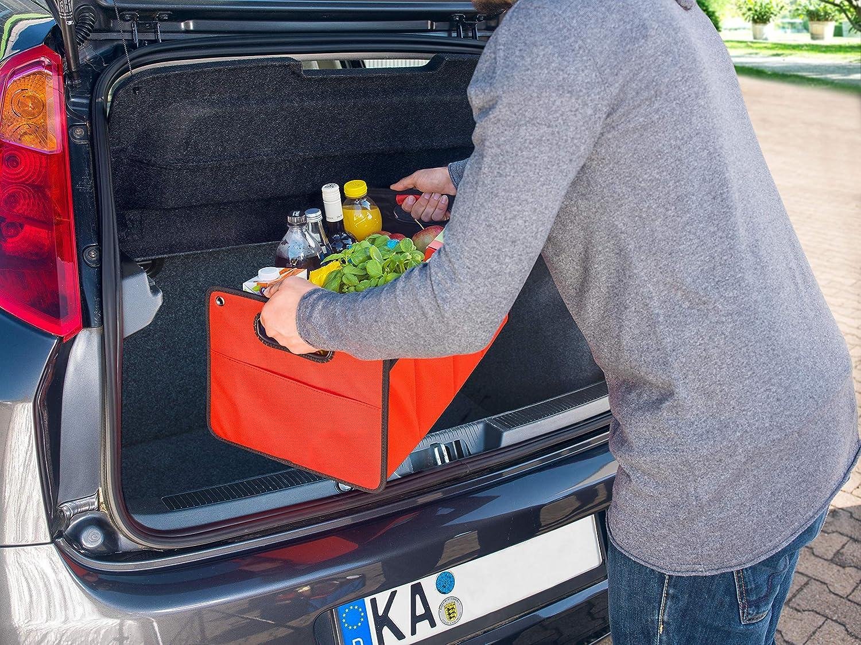 organizador plegable de coche CB Pr/äsentwerbung GmbH Bolsa para maletero de poli/éster con base estable