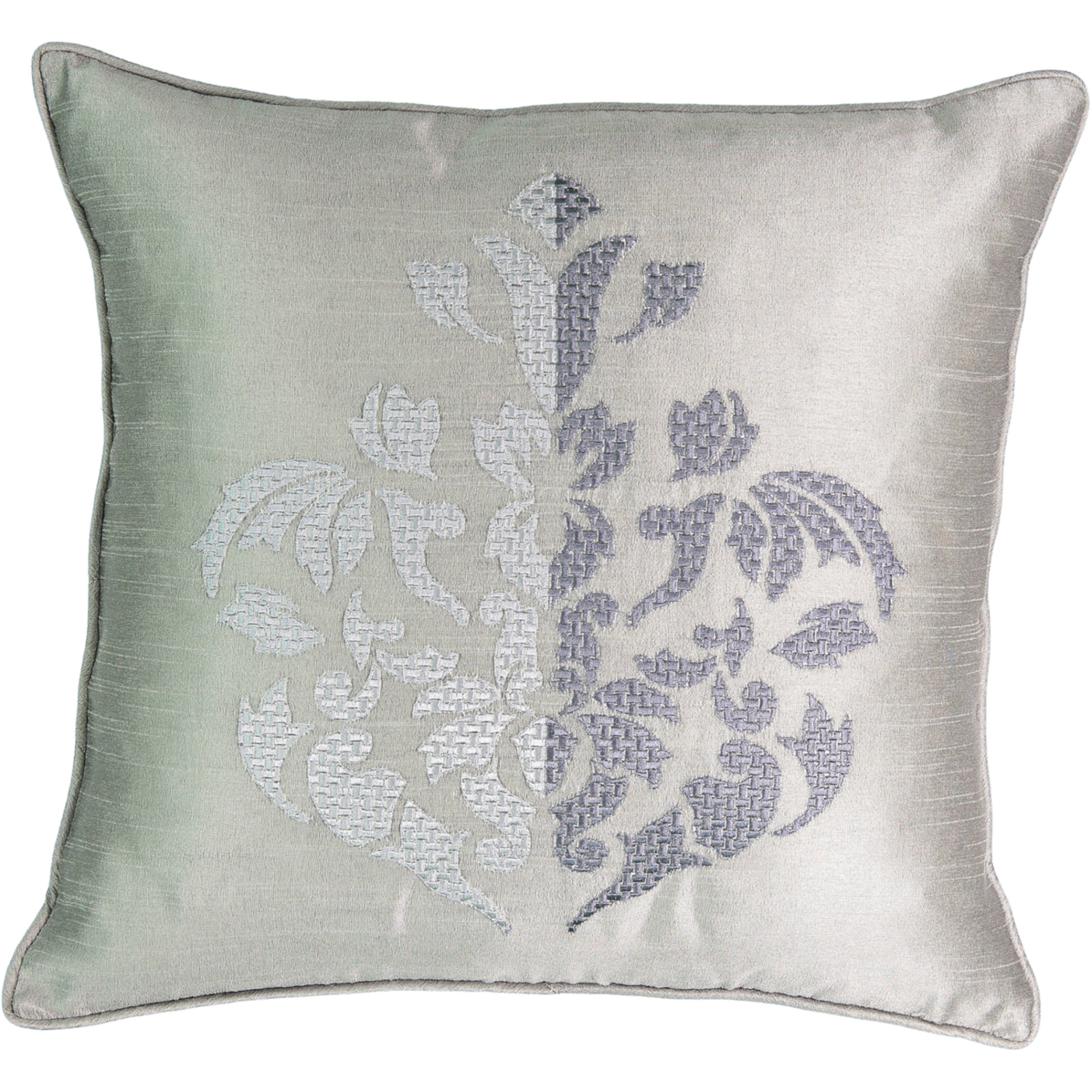 Beautyrest 16324018X018PGA Chacenay 18-inch by 18-inch Embroidered Decorative Pillow, Paloma Grey