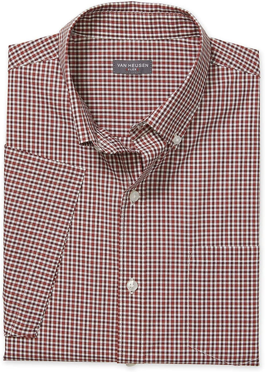 Van Heusen Mens Flex Short Sleeve Button Down Check Shirt