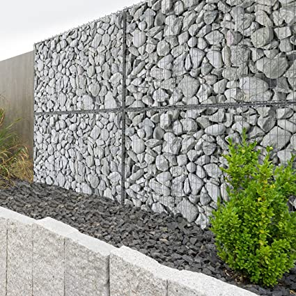 Muri Di Sostegno In Gabbioni.Jago Gabbia In Rete Giardino Gabbioni Per Muri Di Sostegno Ca 100 30 30 Cm