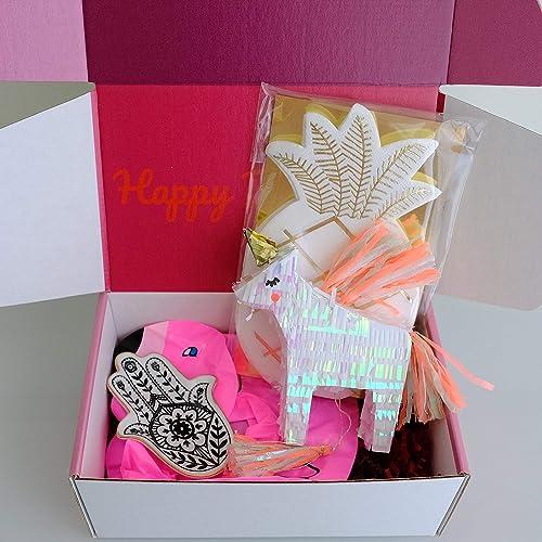 SHIPS NEXT DAY Birthday Box For Women Fun Unique Flamingo Gift Spa