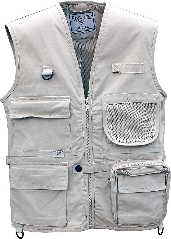 Foxfire for Kids Junior Adventure Vest Cotton Stone