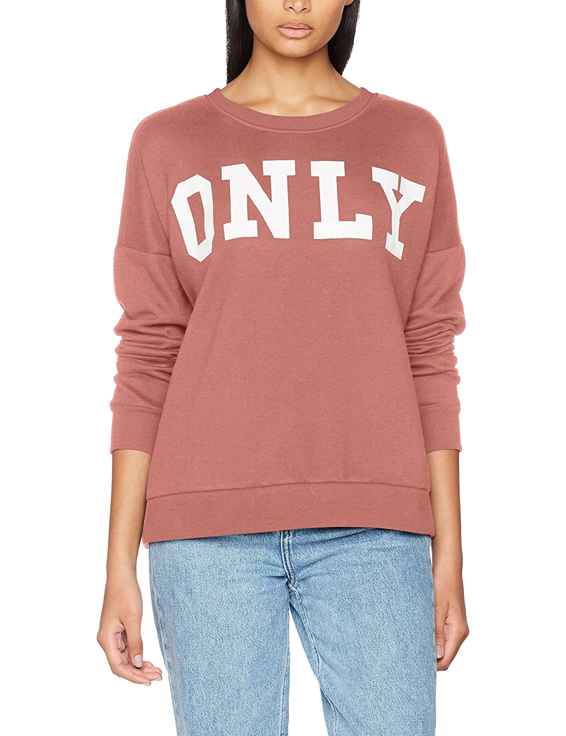 TALLA 42 (Talla del fabricante: X-Large). Only Onlbette Logo LS Swt Sudadera para Mujer