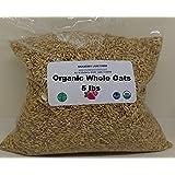 Whole Oats 5 Pounds Hulled, Groats, USDA Certified Organic Non-GMO Bulk