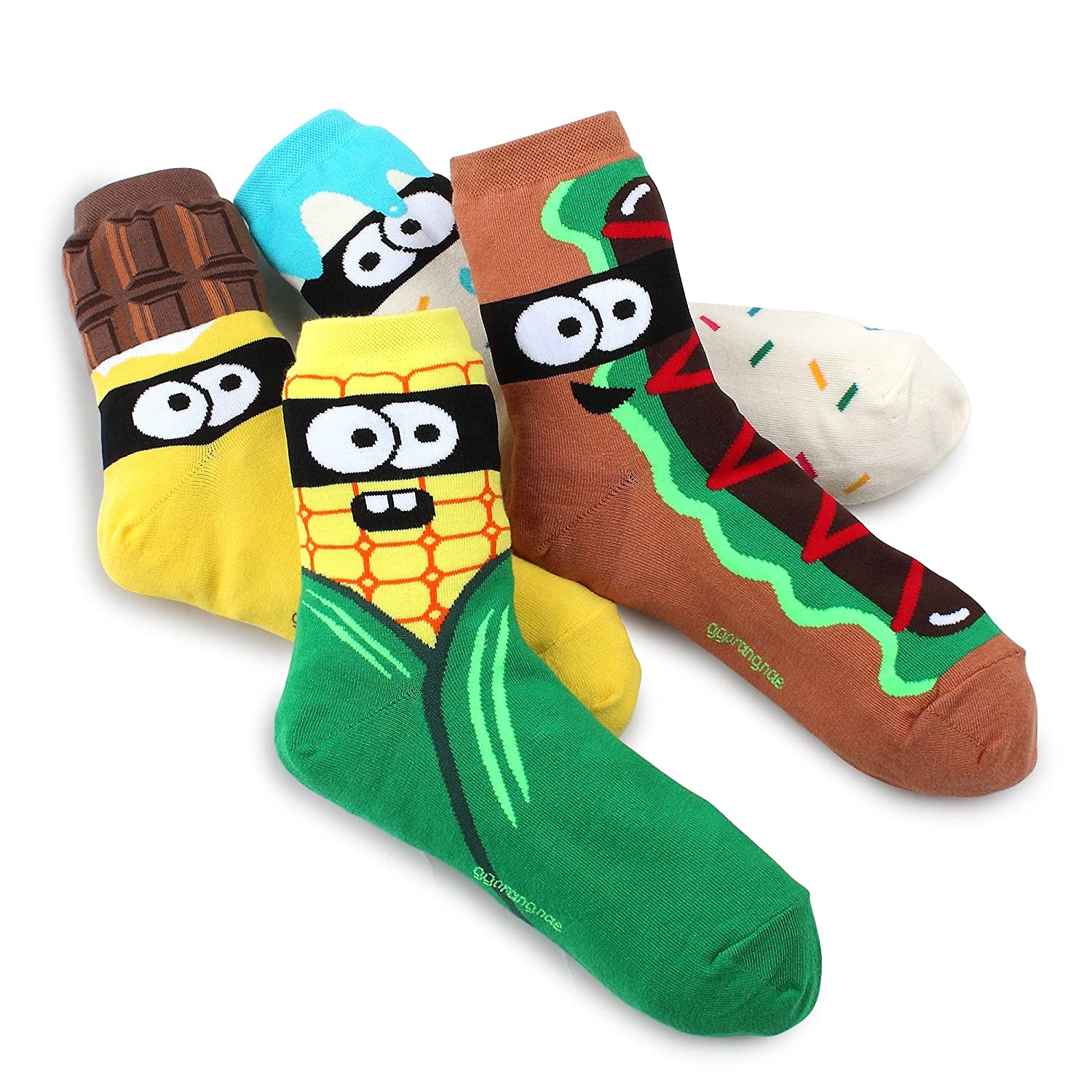 Intype - Calze - Donna A-Crew(Snack Monster) 4pairs 39-42,5: Amazon.it:  Abbigliamento