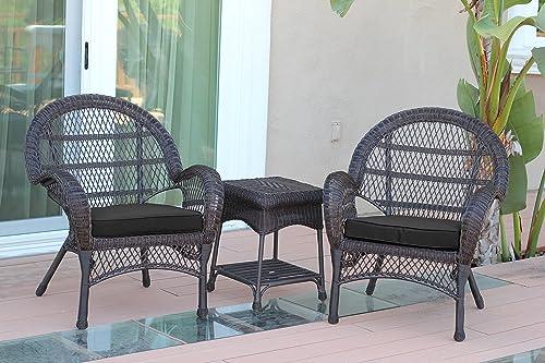 Jeco 3 Piece Santa Maria Wicker Chair Set