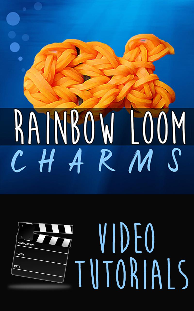 rainbow loom video tutorials charms series top rubber