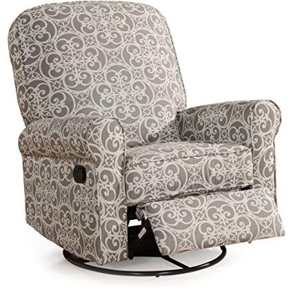 Amazing Amazon Com Padded Swivel Glider Rocker Geometric Pattern Creativecarmelina Interior Chair Design Creativecarmelinacom
