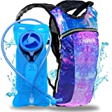 Sojourner Hydration Pack Backpack - 2L Water Bladder Included for Festivals, Raves, Hiking, Biking, Climbing, Running and Mor