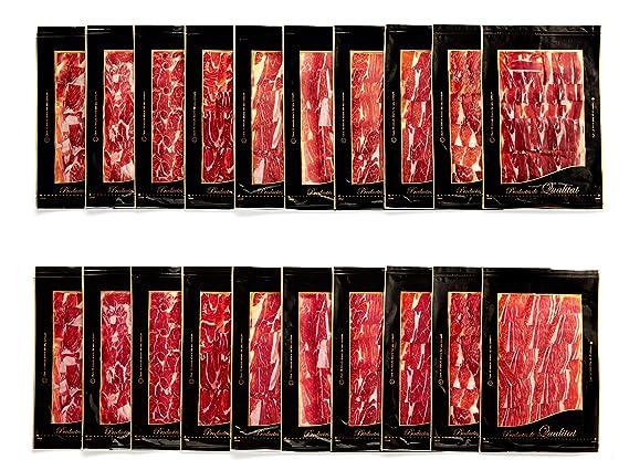 Paleta Iberica D.O.P, loncheado en 20 sobres de 100 gr aprox, envasado al vacío: Amazon.es: Alimentación y bebidas