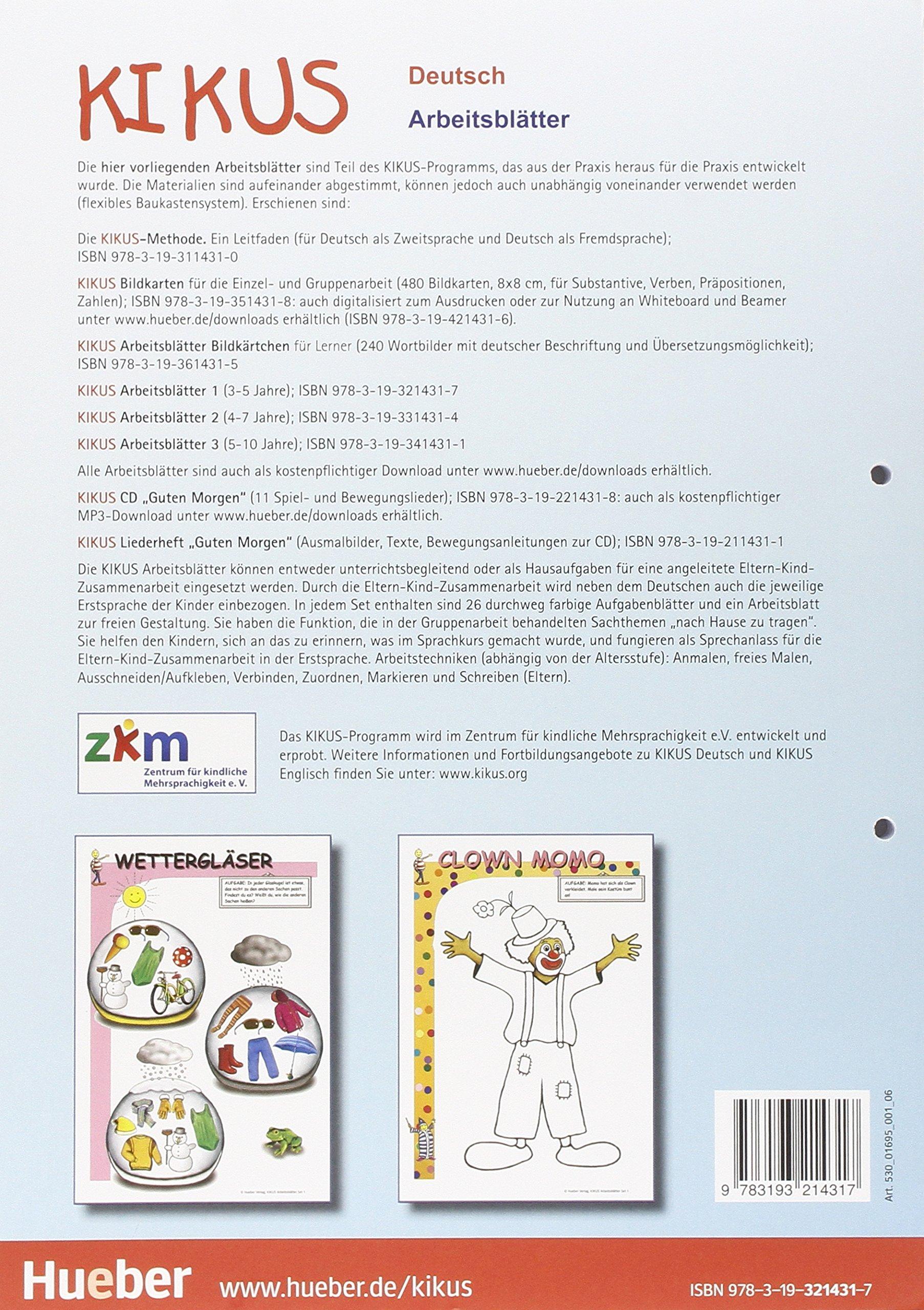KIKUS-Materialien: Arbeitsblatter 1 (3 bis 5 Jahre): Christina Kuhn ...