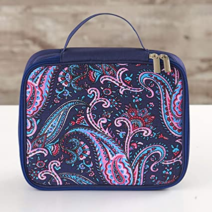 Large Paisley Zip Pouch Important Things Purse