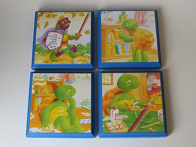 Amazon.com: Franklin Turtle Room Wall Plaques - Set of 4 ...