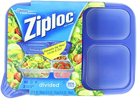 Amazoncom Ziploc Container Divided Rectangle 2 Countpack Of 2