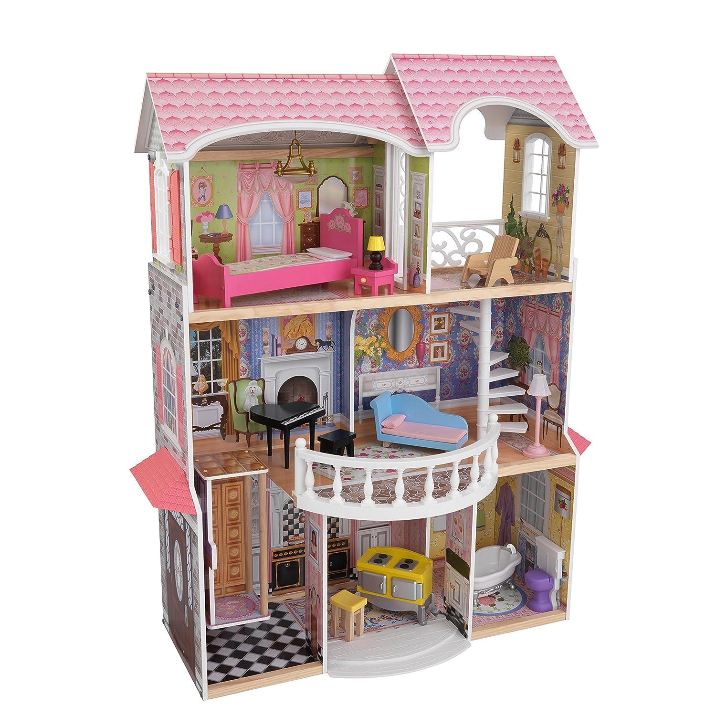 Barbie Haus Holz mit Licht und Soundeffekten -  Kidkraft Puppenhaus Magnolia