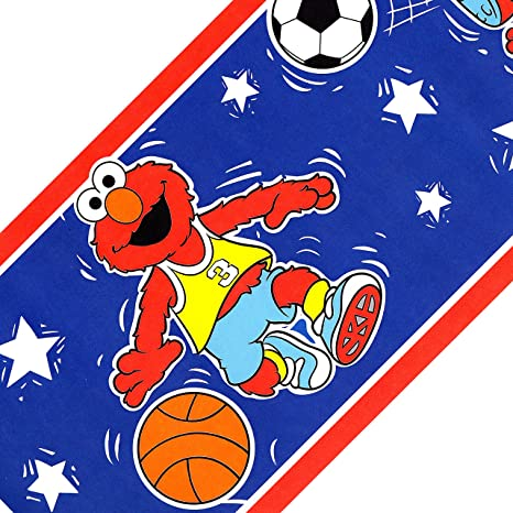 Sesame Street All Star Sports Elmo Wallpaper Border Amazon