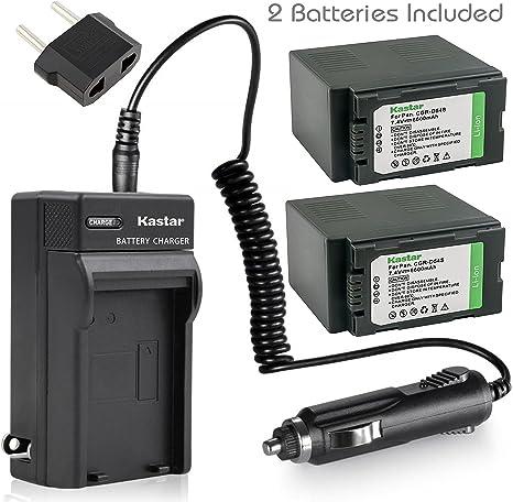 Kastar LED Super Fast Charger /& Camcorder Battery x1 for Panasonic CGR-D54 CGR-D54S CGA-D54 CGA-D54S VSK0581 /& AG-3DA1 AG-AC90 AG-DVC30 AG-DVC32 AG-DVC33 AG-DVC60 AG-DVC62 AG-DVC63 AG-DVC80 AG-DVC180