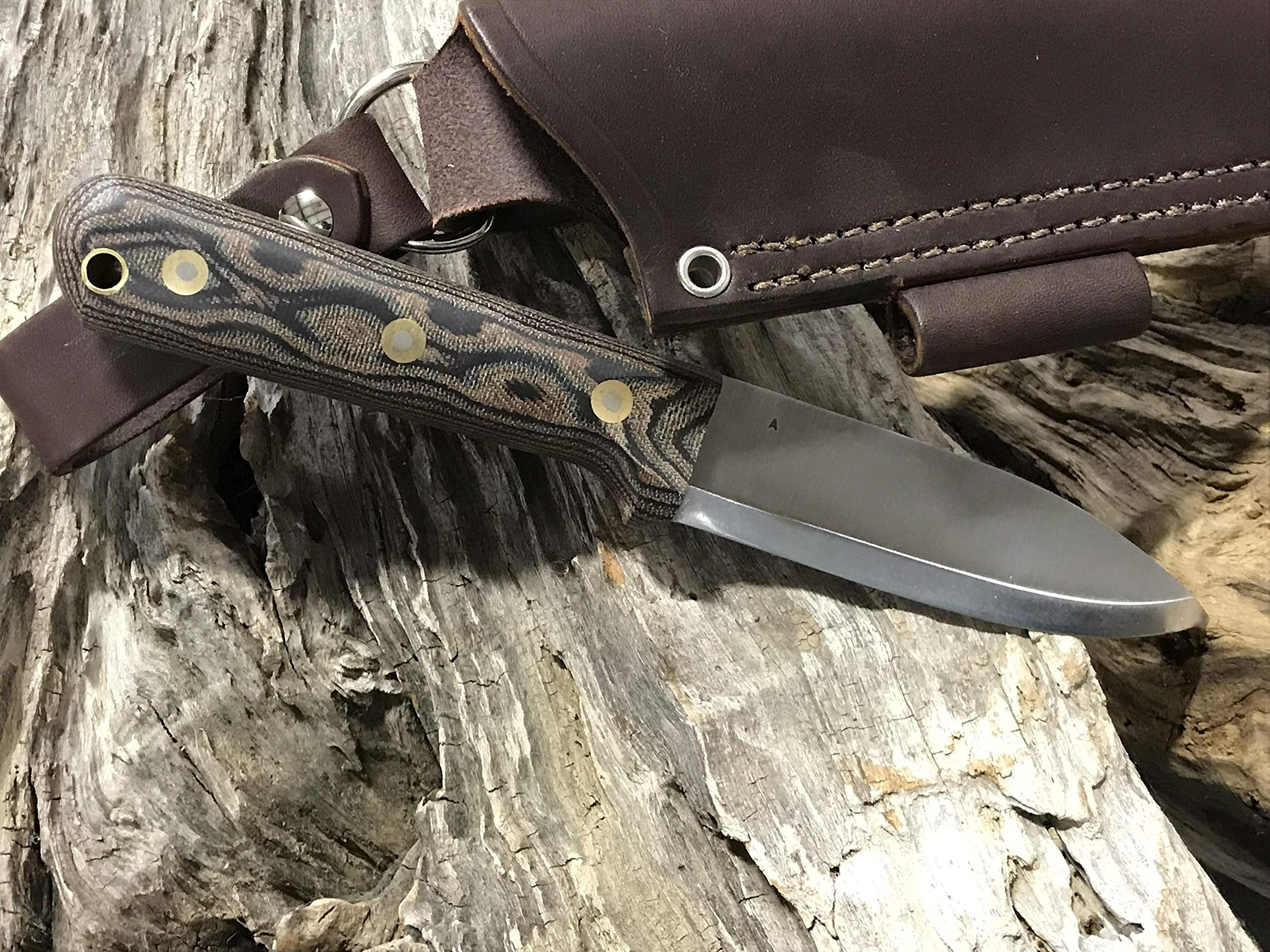 L.T. Wright Handcrafted Knives Genesis w/Scandi Grind, A2 Steel (Python) by L.T. Wright Handcrafted Knives (Image #4)