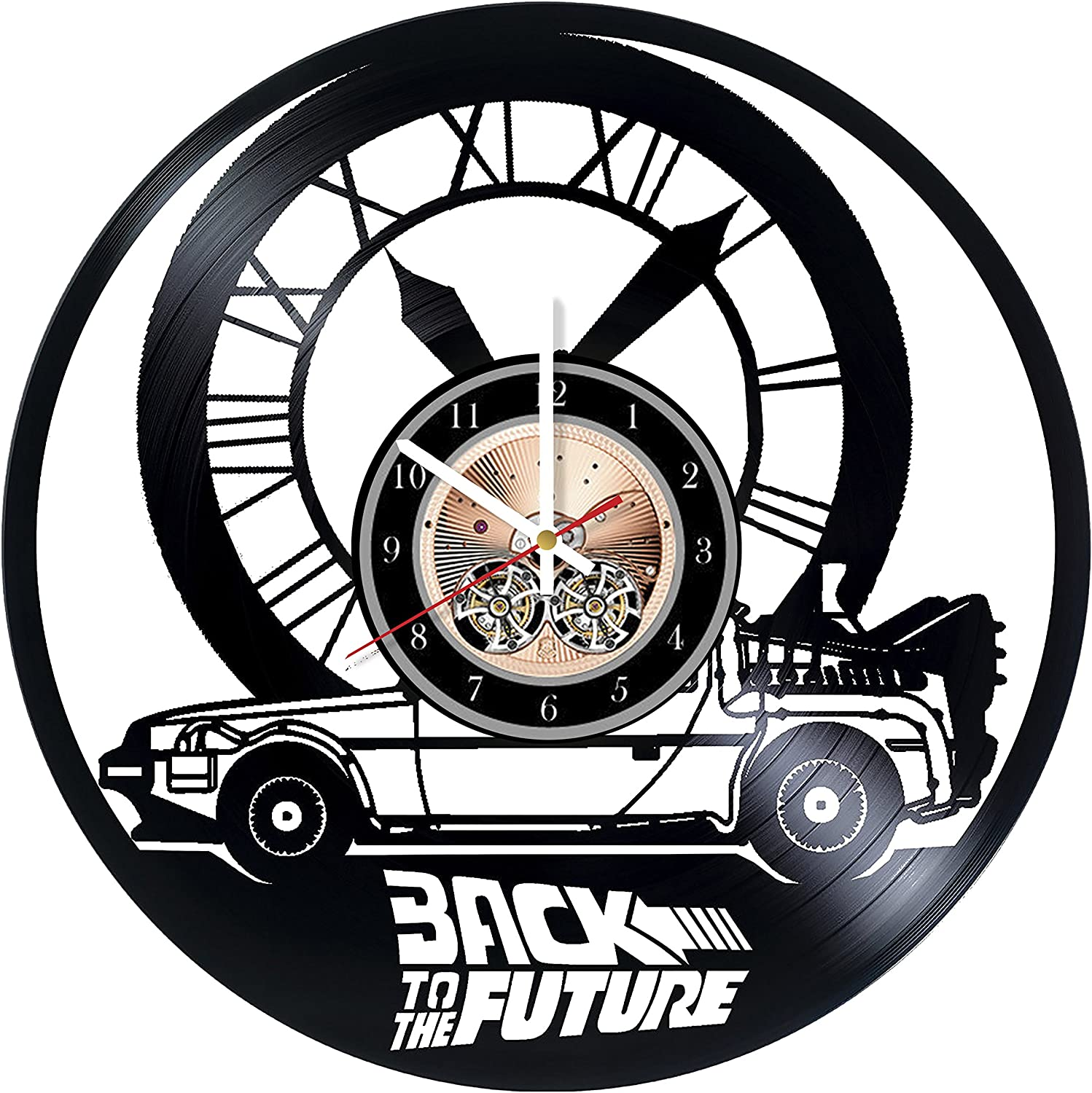 Amazon Com Back To The Future Design Art Vinyl Record Wall Clock 12 Really The Most Original Gift For Him And Her Perfect Element Of The Interior And Amazing Home Decor