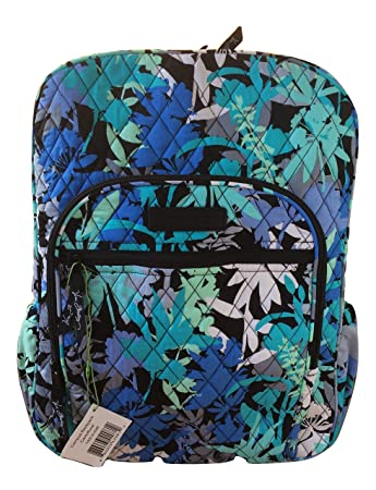 de38cdc74524 Vera Bradley Campus Backpack with Solid Color Interior (Updated Version)  (Camofloral with Black