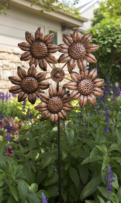 Amazon.com : Echo Valley 4333T Blooming Sunflower Pinwheel : Garden ...