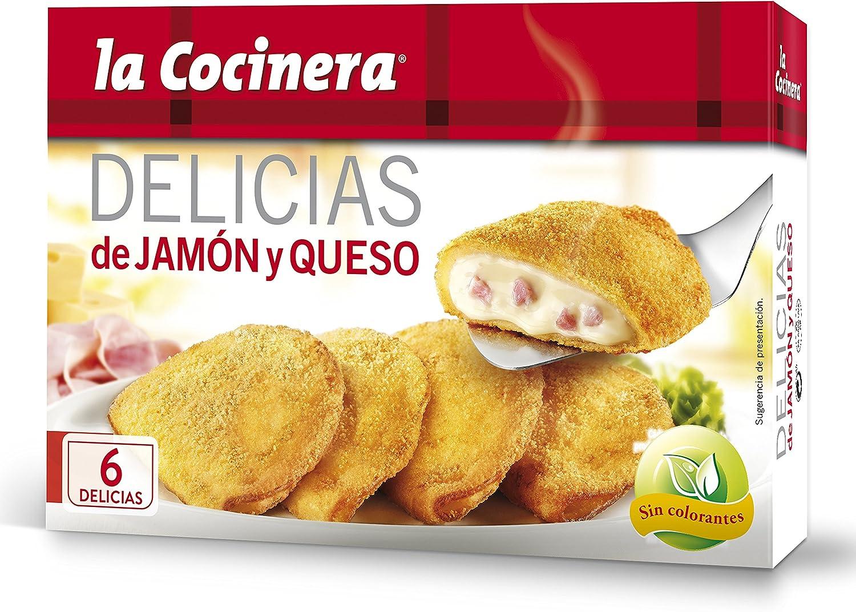La Cocinera - Delicias Jamón Y Queso - Crepes empanados rellenos de bechamel con queso, 300 g: Amazon.es: Alimentación y bebidas