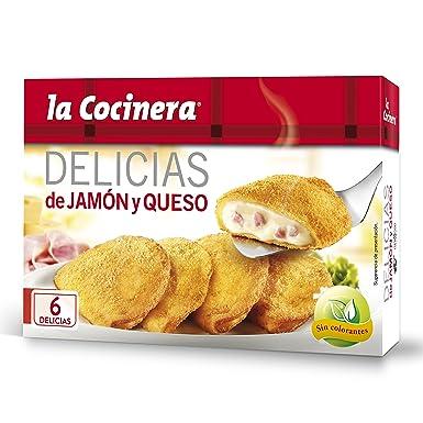 La Cocinera - Delicias Jamón Y Queso - Crepes empanados rellenos de bechamel con queso,
