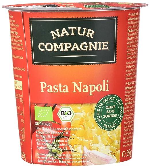 Natur Compagnie Vaso Tallarines con Salsa de Tomate Bio - 59 gr - [pack de