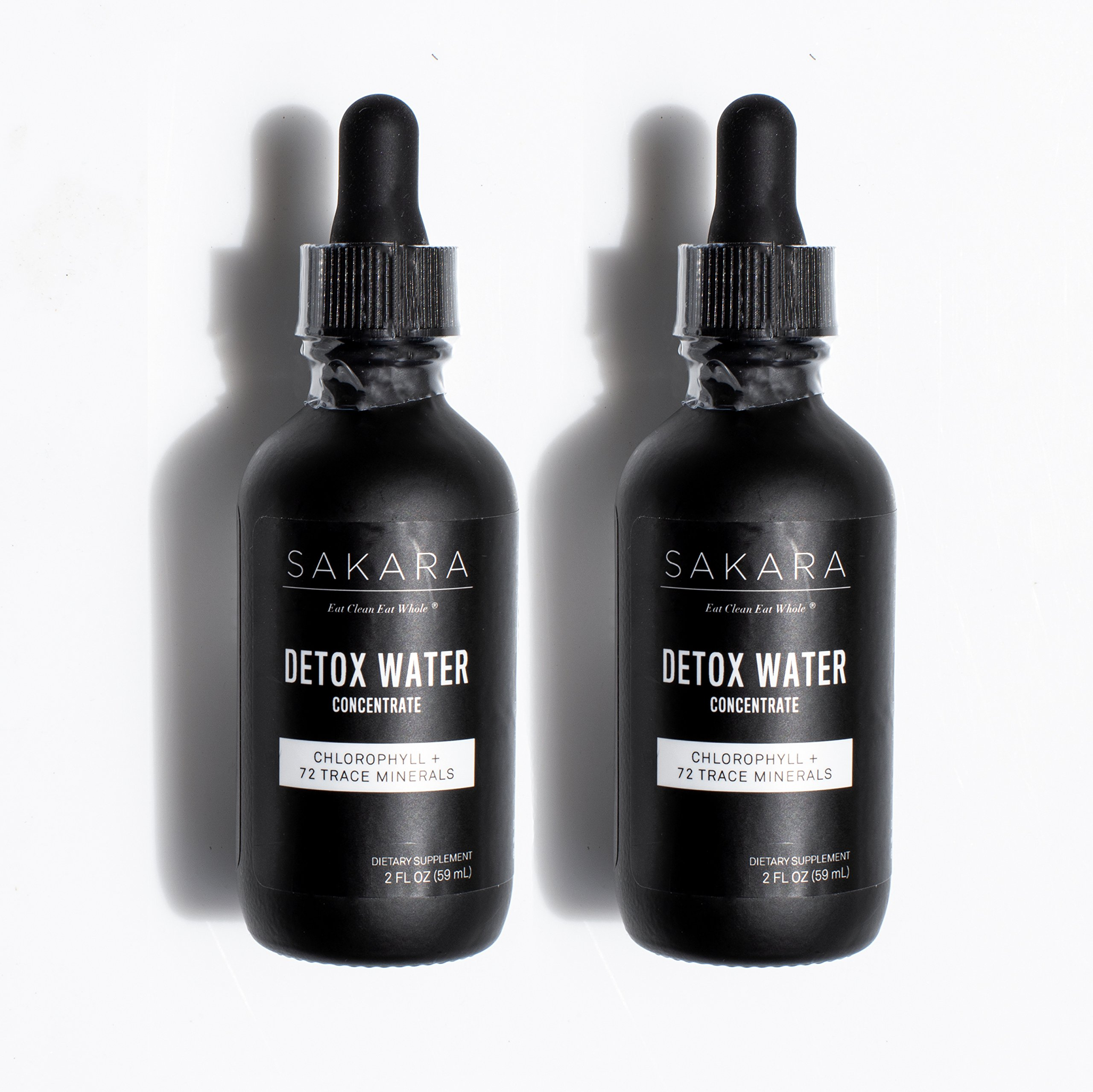 Sakara Detox Water Concentrate Drops w/Trace Minerals & Chlorophyll 2-2oz
