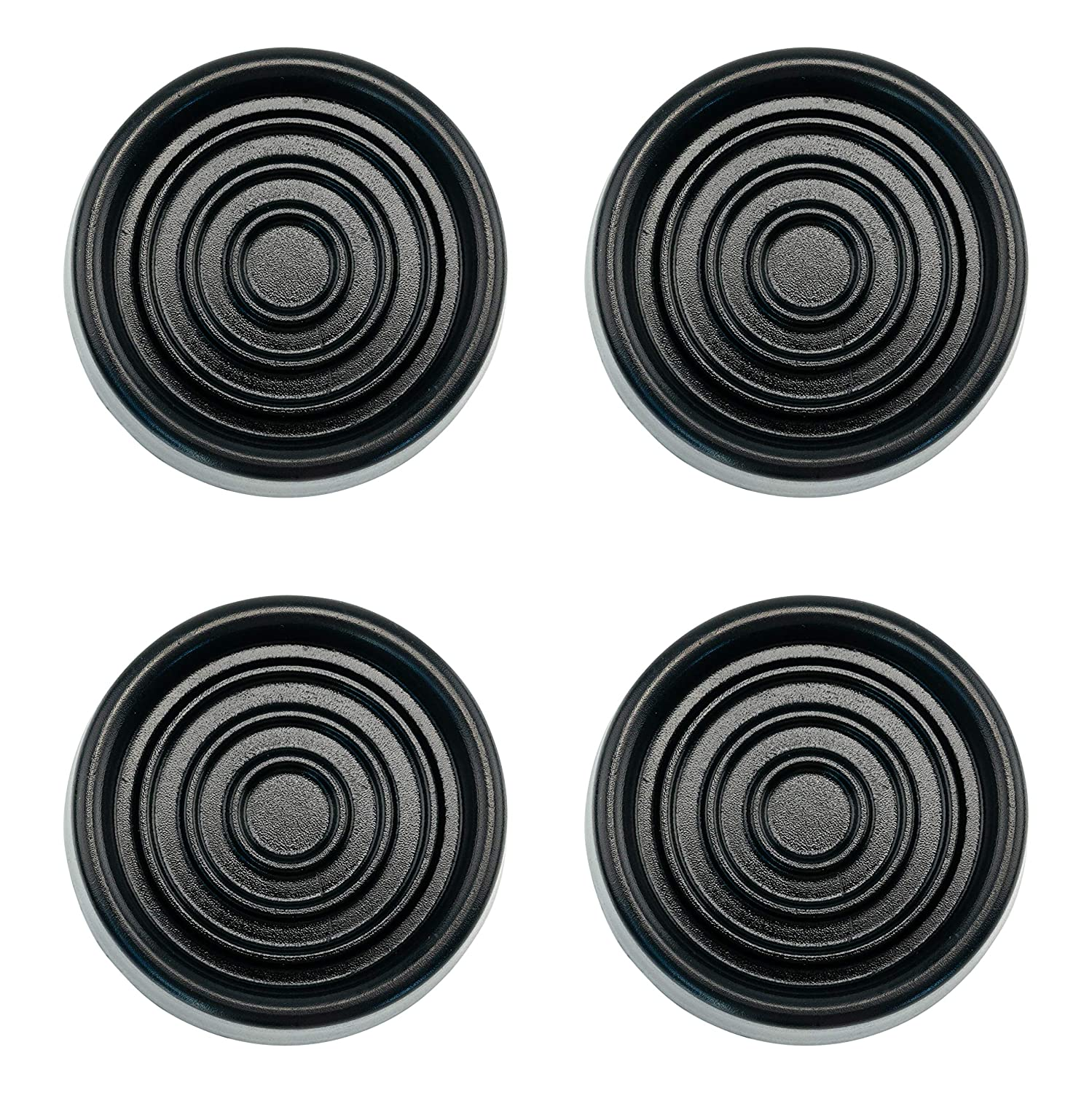Sorbothane Anti-Vibration Anti-Walk Washer and Dryer Machine Floor Pads (Black)