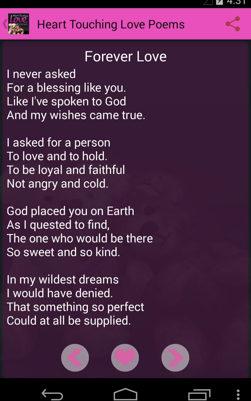 Forever poem my love Short Love