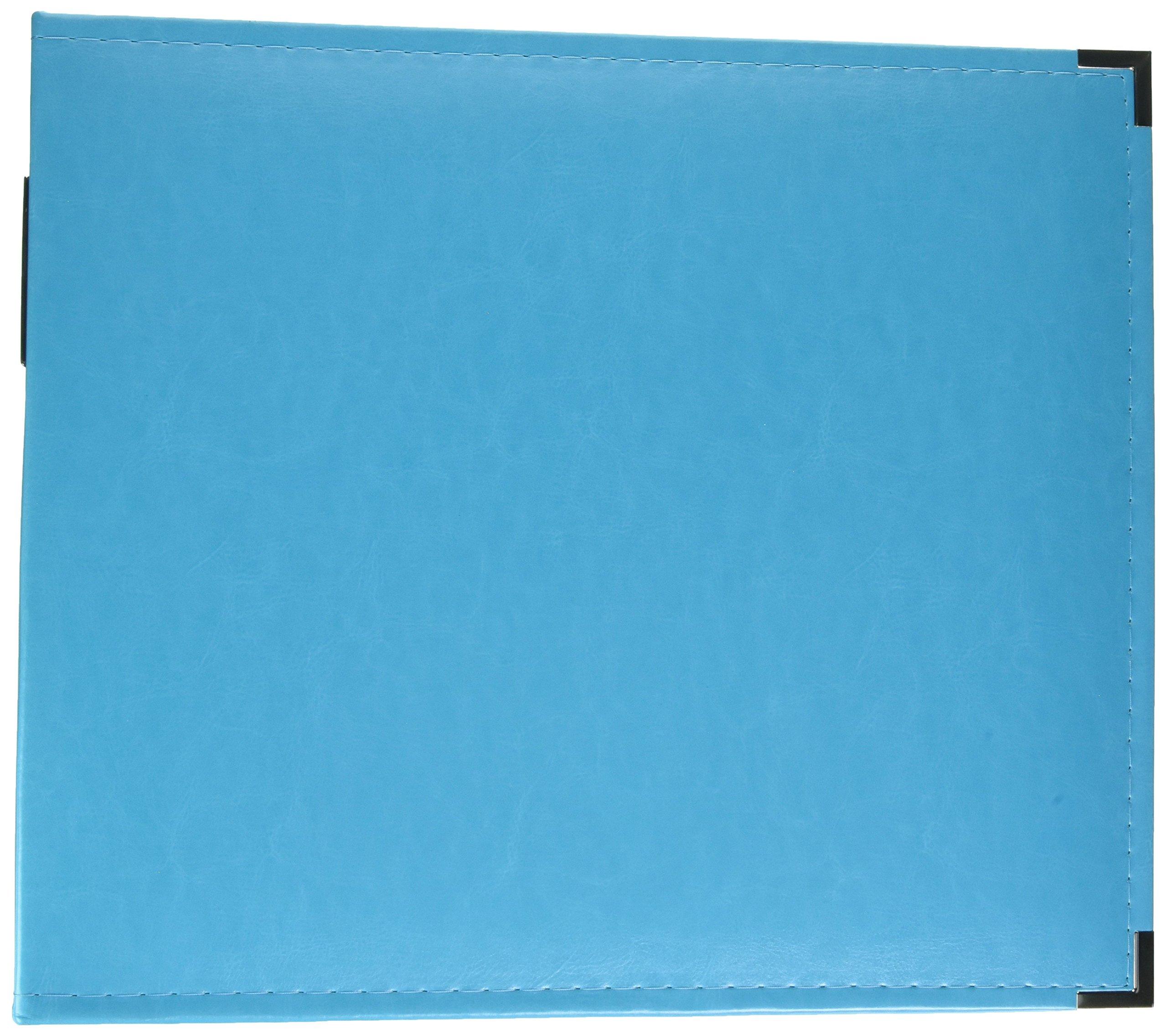 We R Memory Keepers 660901 Classic Leather D-Ring Album 12''X12'', Aqua
