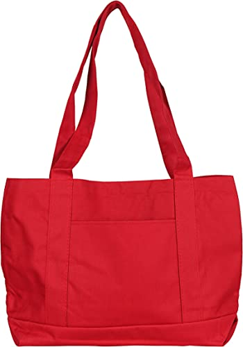 NuFazes 19 x 12 Heavy Duty Polyester Medium Shopping Bag Tote – 48 Pack