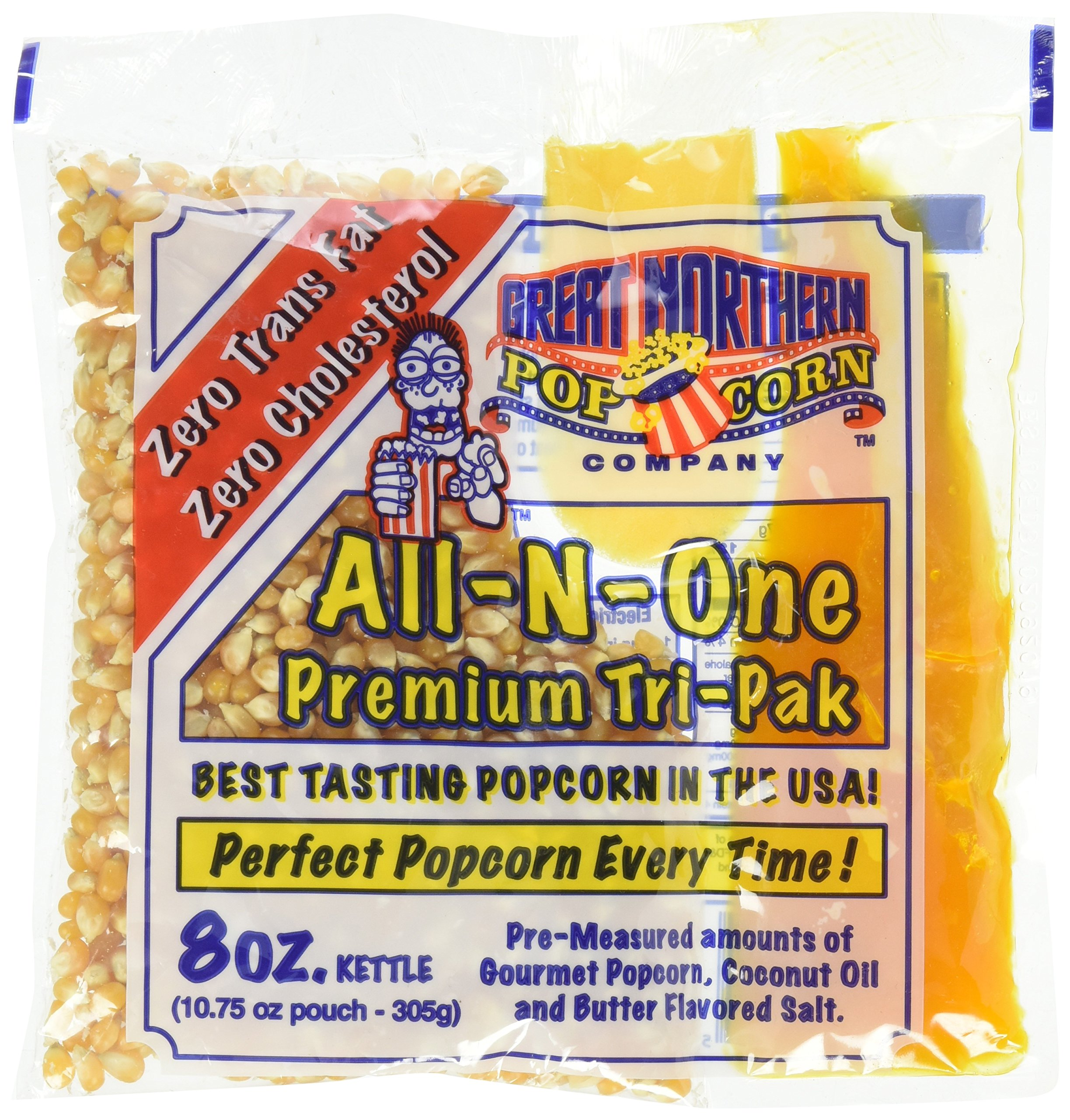 Great Northern Popcorn 8oz Pack of 6 by Great Northern Popcorn Company