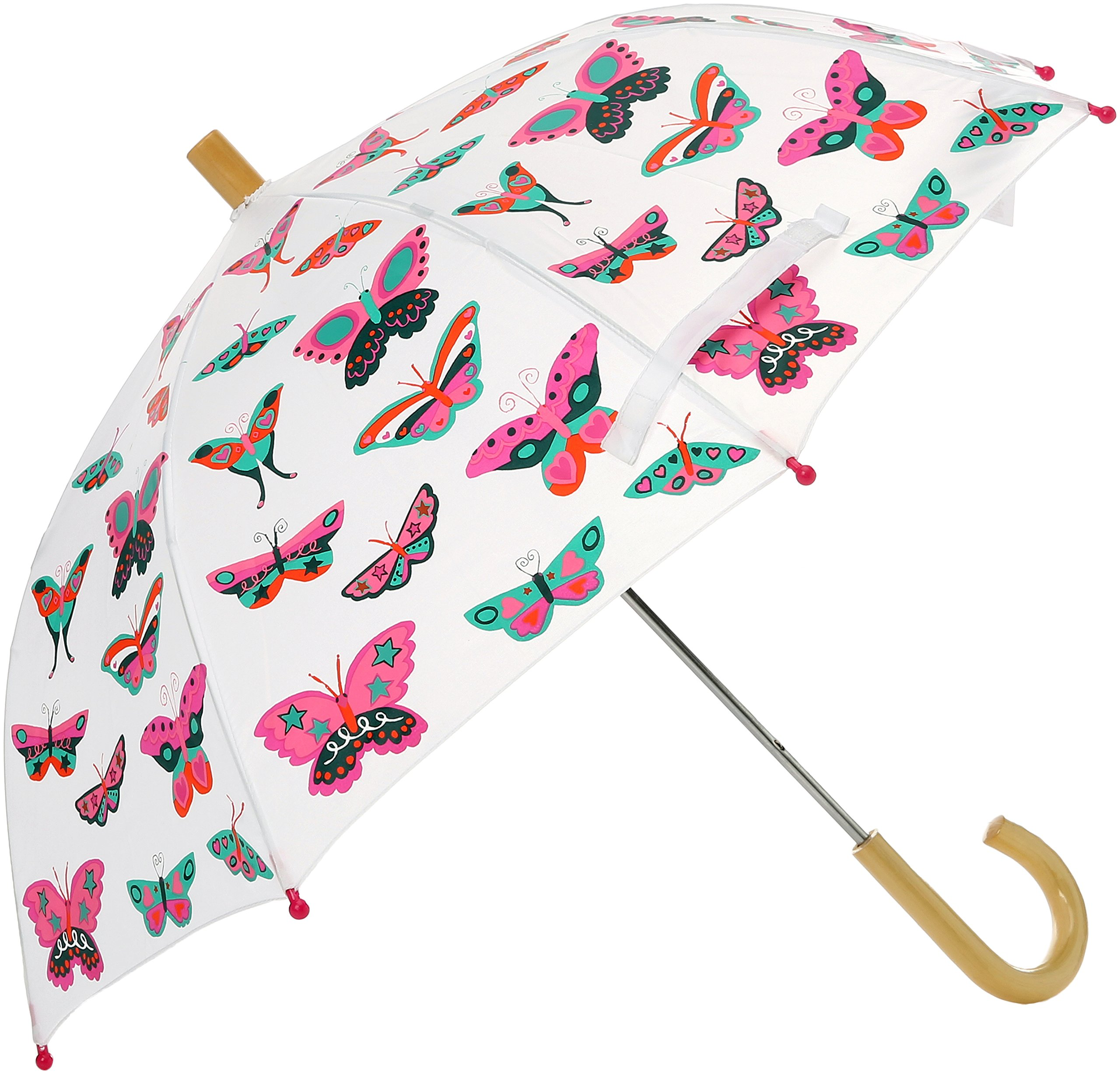 Hatley Little Girls' Printed Umbrellas, Groovy Butterflies, One Size