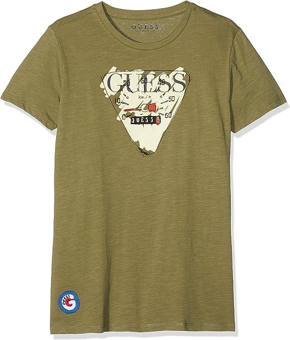 Guess L83i19k4yi0 Camiseta de Tirantes, Verde (Light Military Green Ltmg), 140 (Talla del Fabricante: 10) para Niños: Amazon.es: Ropa y accesorios