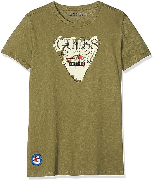 4de91fba6191 GUESS Boys Big Boys Short Sleeve Logo T-Shirt  Amazon.ca  Clothing    Accessories