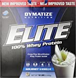 Dymatize Nutrition Elite Whey Protein Isolate, Gourmet Vanilla, 10 Pound ( Packaging may vary  )