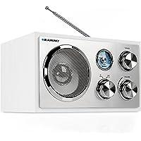 Blaupunkt RXN 18 UKW/ FM Küchenradio mit Analog-Tuner   Büroradio mit klassischem und zeitlosen Design   Kofferradio mit Holzgehäuse und Teleskopantenne   beleuchtete Senderskala