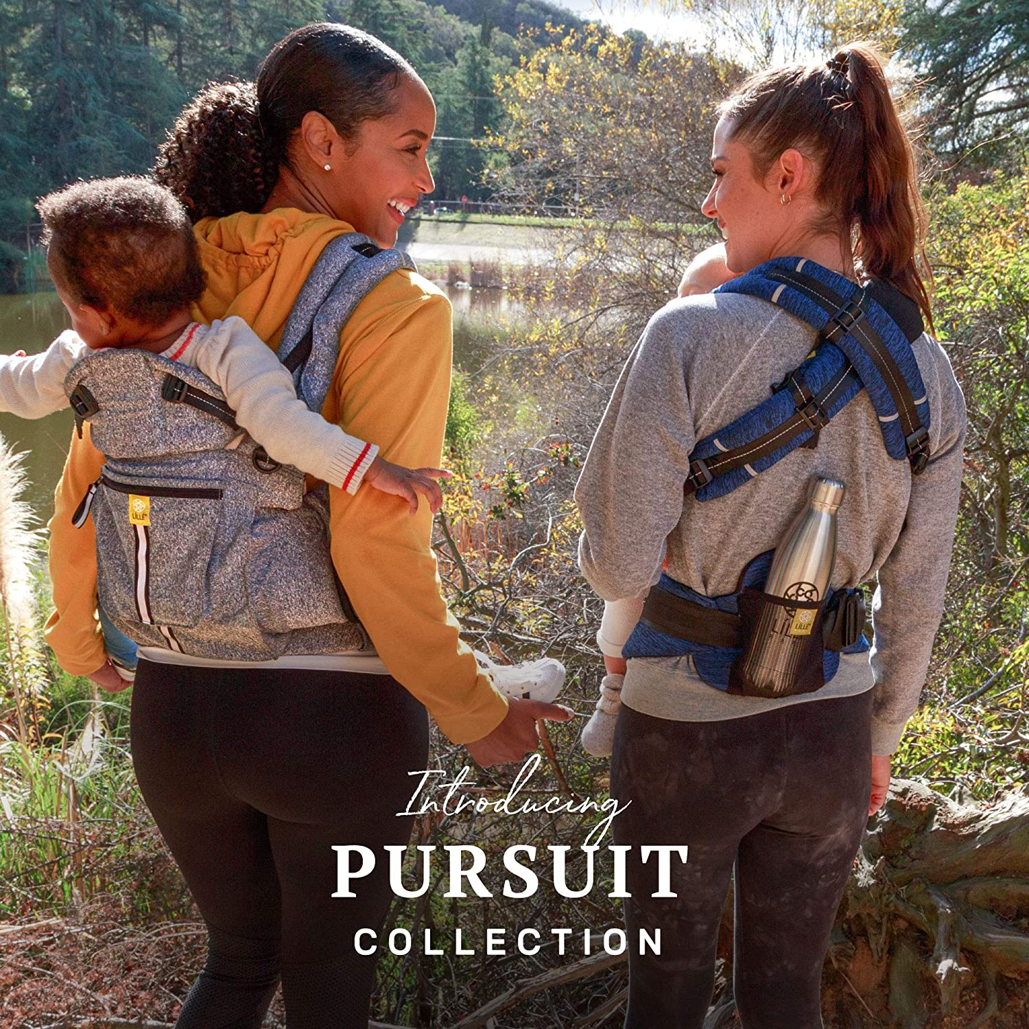 Heathered Grey Heathered Onyx LILLEbaby Pursuit Pro 6 in 1 Baby Carrier