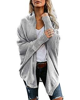 Mafulus Womens Cardigan Sweaters Oversized Open Front Batwing Chunky Knit  Outwear 2e516f803