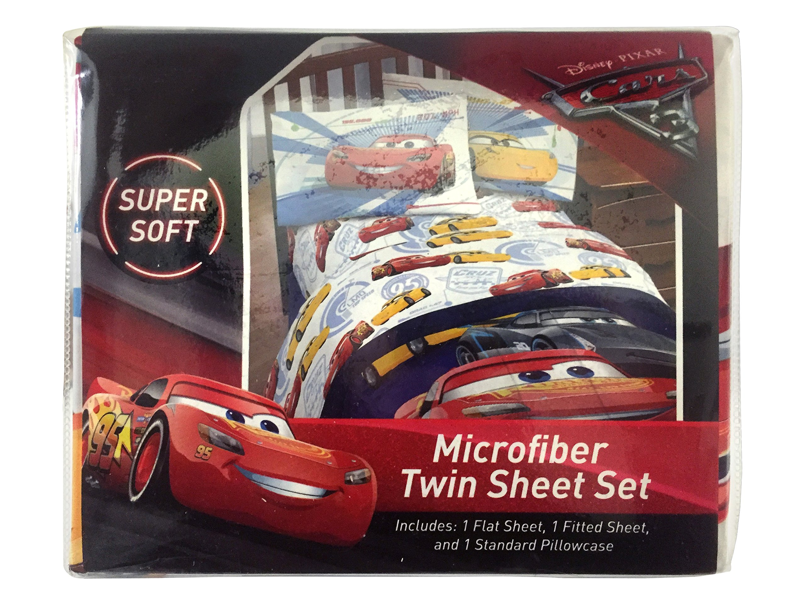 Jay Franco Cars 3 High Tech Twin 3 Piece Sheet Set, Red by Jay Franco (Image #8)