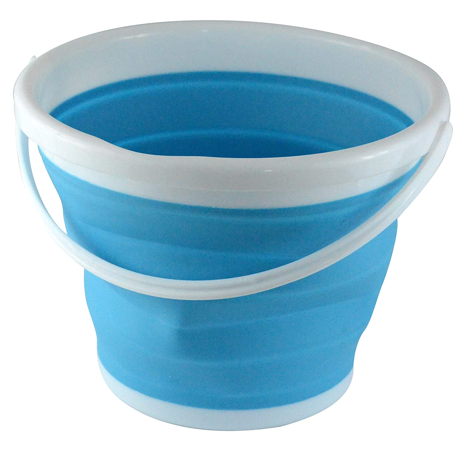 Southern Homewares Silicone Collapsible 2.65 Gallon Bucket, Blue. SH-10129
