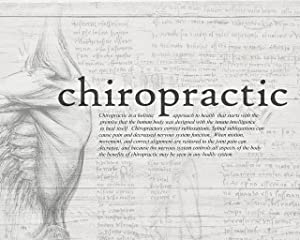 Clinic Artwork Black and White Chiropractic Definition Drawing, 16'x20' Poster, Chiropractic Art, Clinic Decor